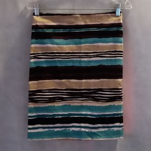 Talbots Striped Pencil Skirt size 2P